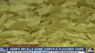 Herrs recalls chipotle-flavored chips over salmonella risk - Video