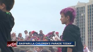 Gasparilla children's parade - Video