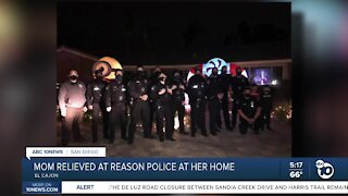 Police surprise family to marvel at Christmas decorations