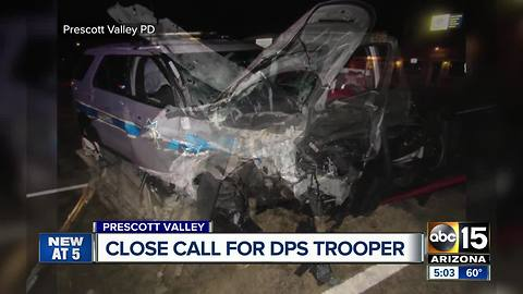 DPS trooper hit by impaired driver in Prescott Valley