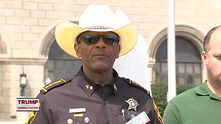 Former Milwaukee County Sheriff Clarke joining Trump PAC - Video