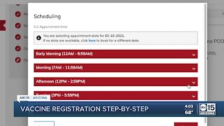 Step by step look at registering for a COVID-19 test
