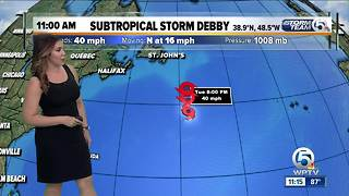 Subtropical Storm Debby forms in the North Atlantic - Video