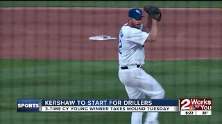 Clayton Kershaw to make rehab start for Tulsa Drillers