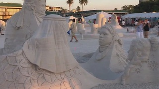 Sandsculpting competition - Video