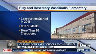 First day of school for Vassiliadis Elementary - Video