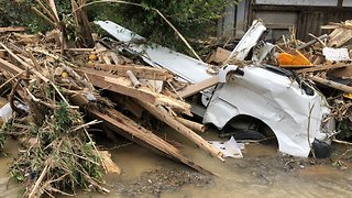 Mudslides Bury Cars, Homes in Japan's Ehime Prefecture - Video
