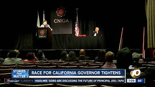 Race for California Governor tightens - Video