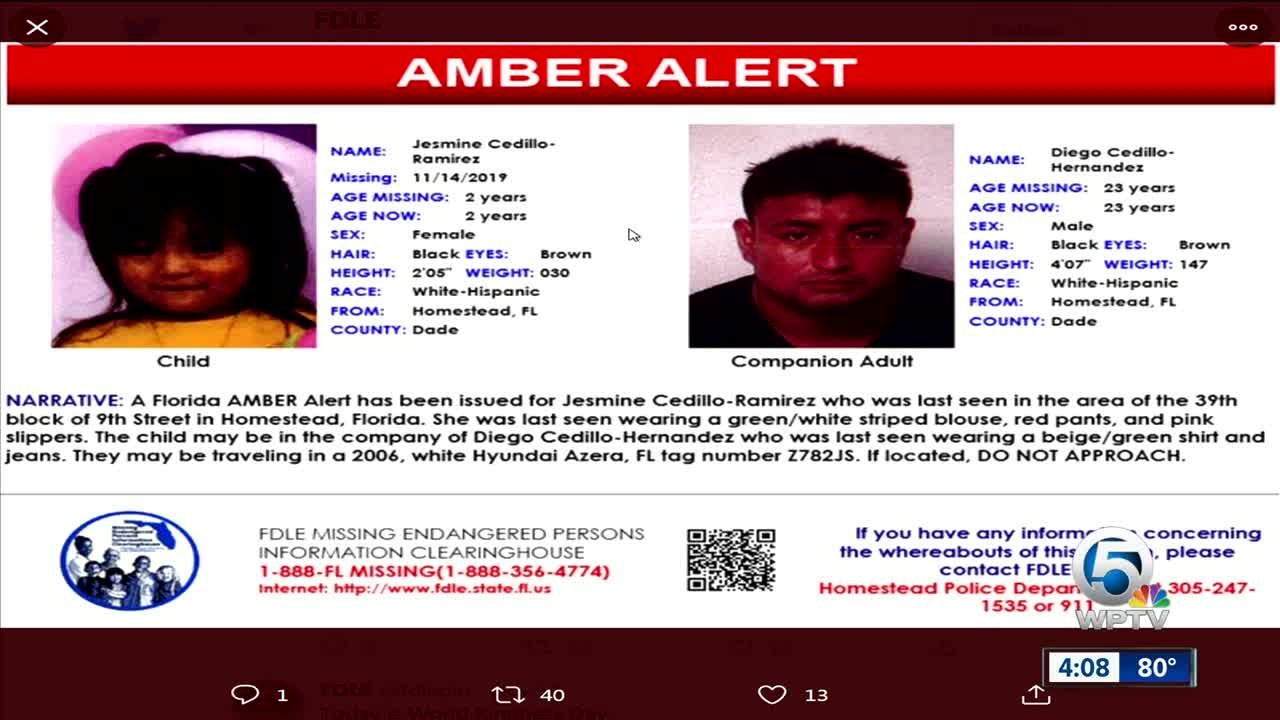 AMBER Alert issued for missing Homestead child