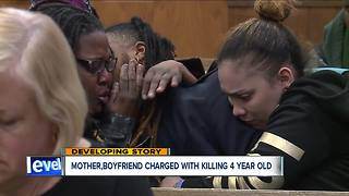 Mother, boyfriend charged with aggravated murder in death of 4-year-old Euclid girl - Video