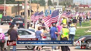Protesting against the president's visit - Video