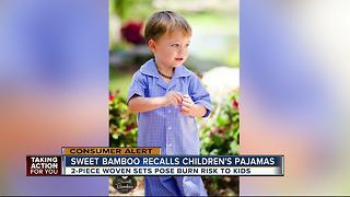 Sweet Bamboo recalls children's pajamas due to risk of burn injuries - Video