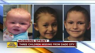 Florida missing child alert issued for 3 children last seen in Dade City - Video