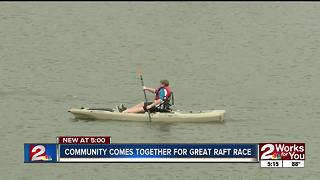 Community comes together for great raft race