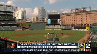 Safety netting extended at Camden Yards - Video