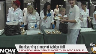 Thanksgiving dinner at Golden Hall - Video