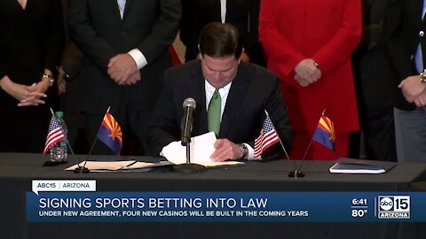 Gov. Ducey signs bill legalizing sports betting in Arizona