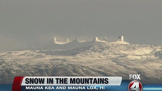 Snow in Hawaii mountains - Video