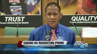 Sabino HS Probe: Some parents not cooperating - Video
