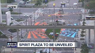 Spirit Plaza in Detroit to open today - Video