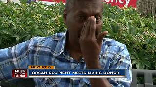 Organ recipient meets living donor - Video