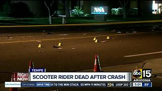 Police: Man on motorized scooter killed in Tempe crash - Video