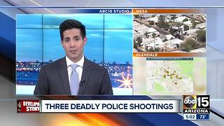 Mesa police confirm man shot and killed was homicide suspect - Video