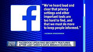Facebook updating security features after data breach scandal