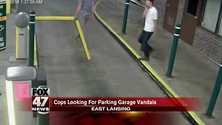Cops looking for parking garage vandals