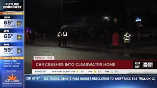 Car crashes into Clearwater home