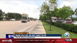 Person killed in hit-and-run crash in Palm Beach Gardens