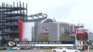 Chiefs arrive in New England