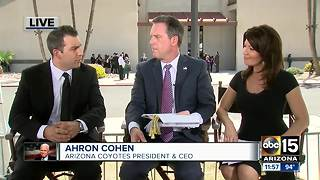 Arizona Coyotes President talks about Sen. John McCain