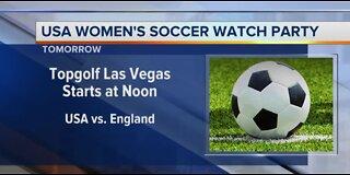 Topgolf watch party for soccer game