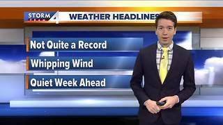 Mild but Windy Black Friday - Video