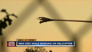Man killed by helicopter in accident at airport in Brooksville