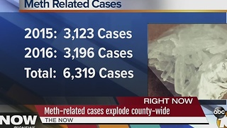 Meth-related cases explode county-wide - Video