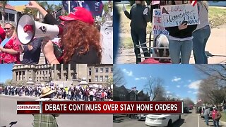 The debate continues over stay-at-home orders across the country