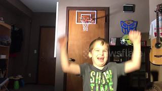 5-year-old's adorable attempt to make a trick-shot video - Video