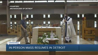 Archdiocese of Detroit resuming public Masses beginning today