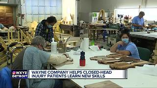 Michigan company supports and encourages closed head injury survivors at work - Video