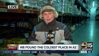 Visiting the coldest place in Arizona during an Excessive Heat Warning - Video