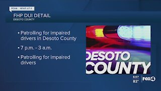 DUI enforcement detail to take place in DeSoto County