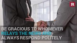 How to handle a professional rejection   Rare Life - Video
