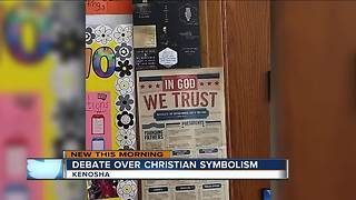 'Christian symbolism' taken out of Kenosha classroom after Atheist father gets lawyers involved - Video