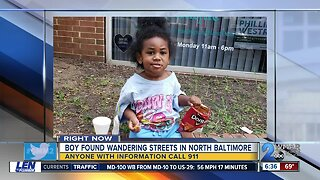 Police looking for family of child found wandering on North Charles Street