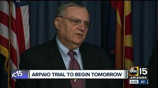 Former Sheriff Joe Arpaio trial to begin Monday - Video