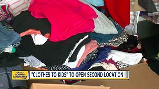 Pinellas County non-profit Clothes to Kids working to open first Tampa location - Video