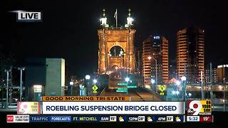 John A. Roebling Suspension Bridge still closed due to ice