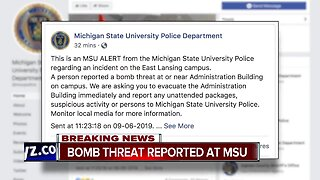 Bomb threat reported at Michigan State University